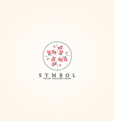 Floral logo template logo for business corporate vector