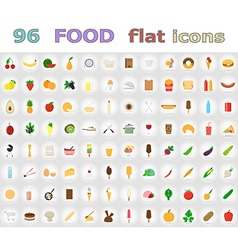 Food flat icons 01 vector