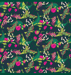 Fusion exotic jungle juicy greens tropical palm vector