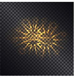 glowing fiery sparks on transparent background vector image