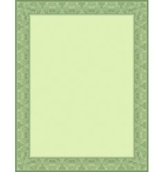 Green certificate background vector
