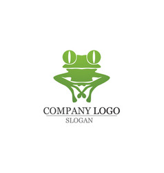 green frog symbols logo and template vector image