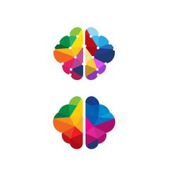 health brain icon template vector image