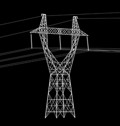 High voltage power line vector