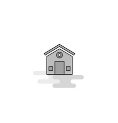 house web icon flat line filled gray icon vector image