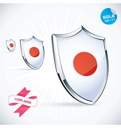 I Love Japan Flag vector