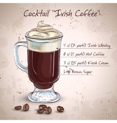 Irish cream coffee vector