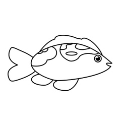 Isolated fish animal cartoon design vector