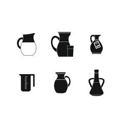 Jug icon set simple style vector