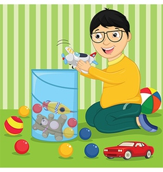 Kid with Toys vector