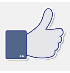 Like it thumb up icon vector