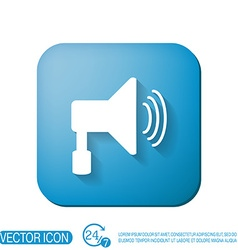 loudspeaker Volume icon sound icon vector image