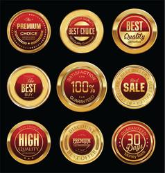 Luxury golden retro badges collection 05 vector