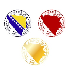 Made in bosnia and herzegovina stamp vector