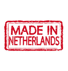 Made in netherlands stamp text vector
