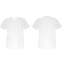 medical uniform vector image