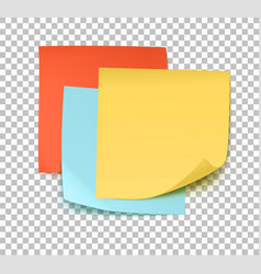 multicolor post it notes vector image