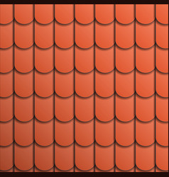 Pattern terracotta roof tile vector