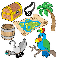 pirate collection 7 vector image