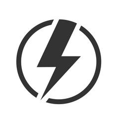 power energy icon flash symbol vector image