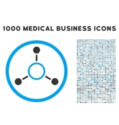 Radial Structure Icon with 1000 Medical Business vector