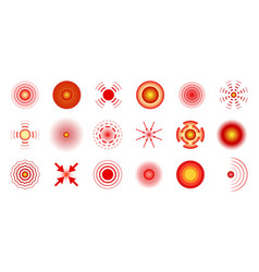 red pain circles local pains concept abstract vector image
