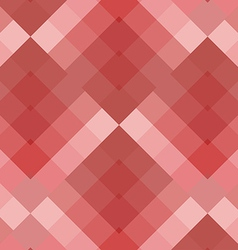Red seamless pattern geometric squares vector image