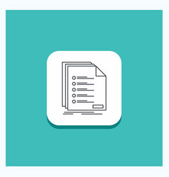 Round button for check filing list listing vector