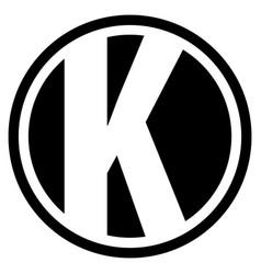 Round k logo vector