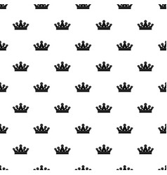 royal crown pattern vector image