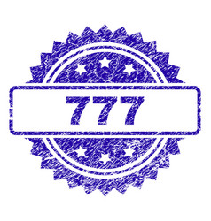 Scratched 777 stamp seal vector