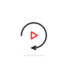 simple thin line replay icon vector image