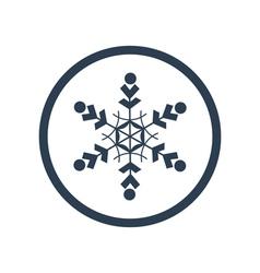 Snowflake flat icon vector