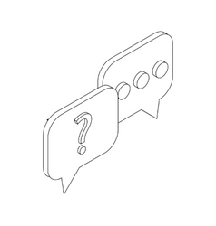 Speech bubbles with question and three dots icon vector image