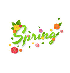 spring sale text vector image