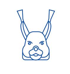 squirrel head line icon concept squirrel head vector image