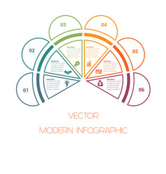 Template of colorful semicircle from lines for vector