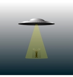 UFO and alien vector image