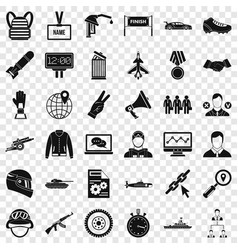Victory in sport icons set simple style vector