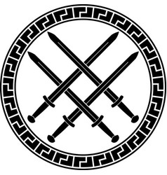 Viking symbol with swords third variant vector