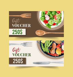 World food day voucher design with salad vector