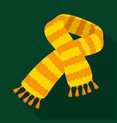 Yellow striped wool scarfscarves and shawls vector