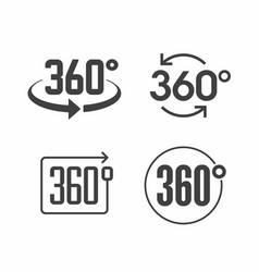 360 degrees view sign icon vector image vector image