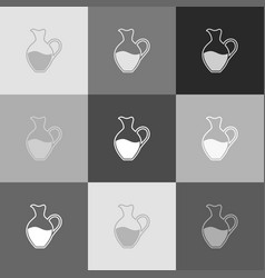 amphora sign grayscale version of popart vector image vector image