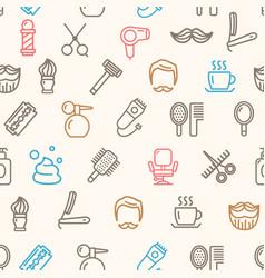 barber shop pattern background vector image