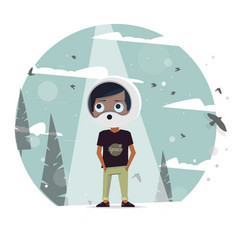 kids dream of astronauts to fly vector image