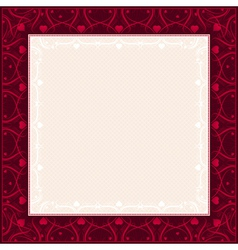 square red background with decorative ornaments vector image