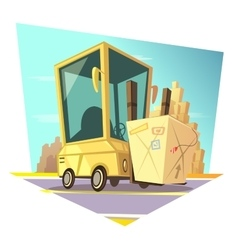 Warehouse retro cartoon vector image