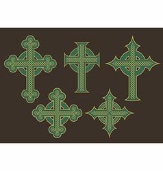 Celtic Cross Designs vector image