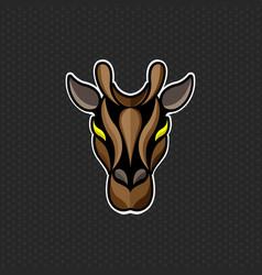 Giraffe logo design template giraffe head icon vector
